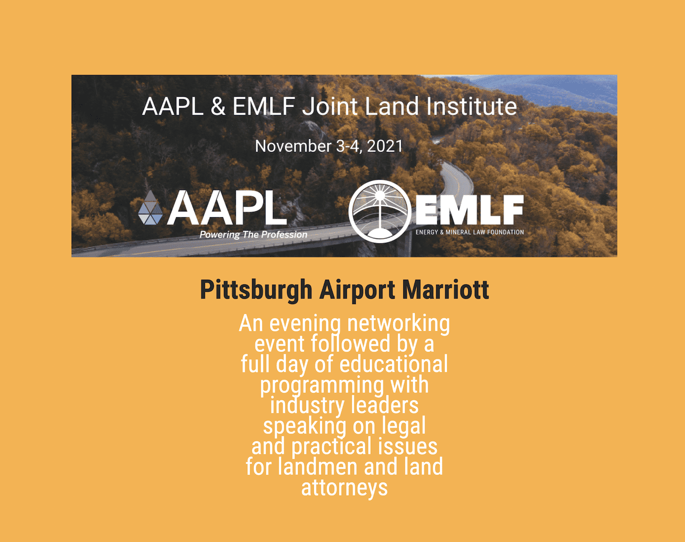 AAPL & EMLF Joint Land Institute
